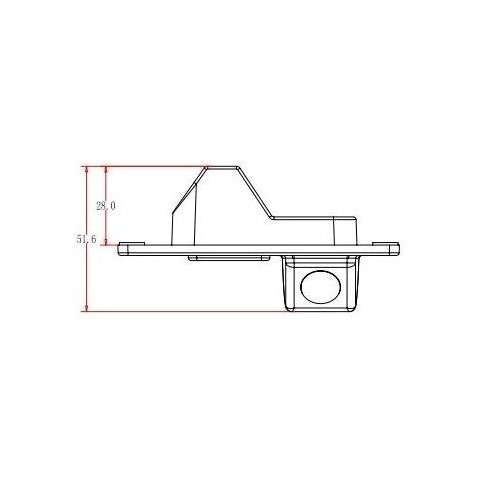 Автомобильная камера заднего вида для Mitsubishi Pajero Превью 3