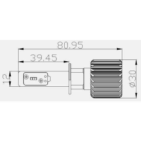 Набор светодиодного головного света UP-7HL-H1W-4000Lm (H1, 4000 лм, холодный белый) Превью 4