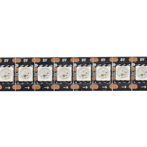 Світлодіодна стрічка RGB SMD5050, WS2813 (чорна, з управлінням, IP20, 5 В, 144 діодів/м, 1 м)